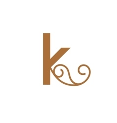 Sign the letter K vector image