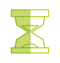 Silhouette hourglass object to know the time vector
