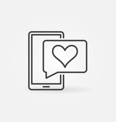 Smartphone and speech bubble with heart vector