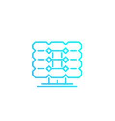 Solar panel linear icon vector