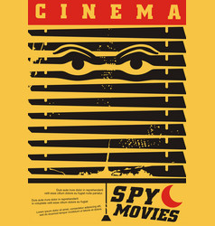 spy movies cinema festival creative poster vector image