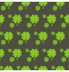 St patrick day clover seamless pattern vector