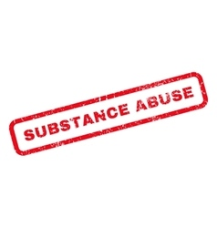 Substance Abuse Rubber Stamp vector