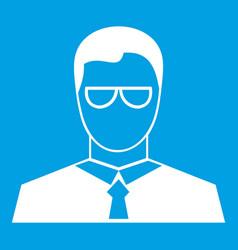 Teacher icon white vector