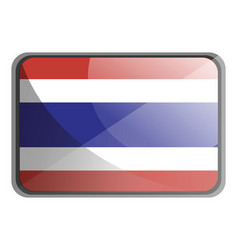 thailand flag on white background vector image