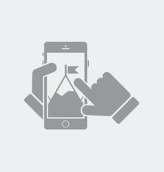 Top aim on digital mobile services vector
