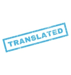 Translated Rubber Stamp vector
