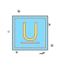 underline icon design vector image