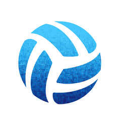 Volleyball blue silhouette vector
