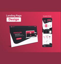 Website landing page design web analytics website vector