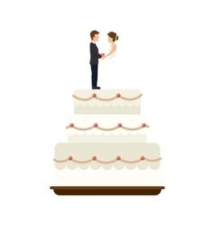 weeding cake dessert vector image