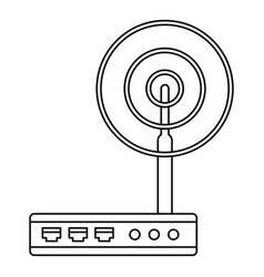 wifi router icon outline style vector image
