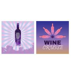 Wine tasting card set vector