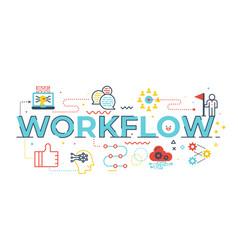 workflow word vector image