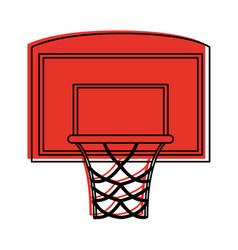 Basketball backboard and hoop icon image vector