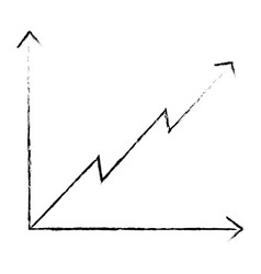 diagram presentation graph arrow growth vector image