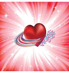 heart love card vector image vector image