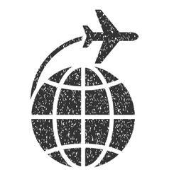 International Flight Icon Rubber Stamp vector image vector image