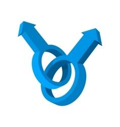 Male gay symbol cartoon icon vector image