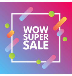 modern dynamic design style super sale banner vector image