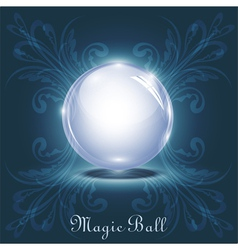 3d magic ball vector image vector image