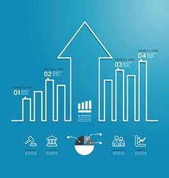 arrow business diagram line style vector image vector image