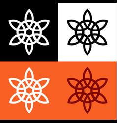 celtic knot symbol vector image
