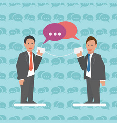 communication business concept with businessmen vector image vector image