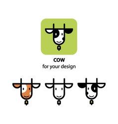 Cute cow icon vector image vector image