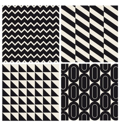 geometric pattern background set vector image vector image