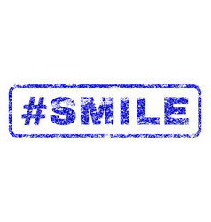 hashtag smile rubber stamp vector image