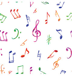 music pattern music notes and signs seamless vector image