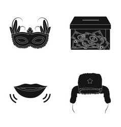 travel finance and or web icon in black style vector image vector image