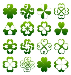 Abstract clover symbol set vector image vector image