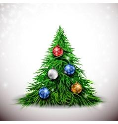 Christmas tree with balls vector image vector image