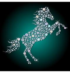 Diamond horse vector image vector image
