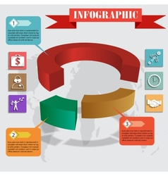 infographics pie for web and mobile vector image vector image
