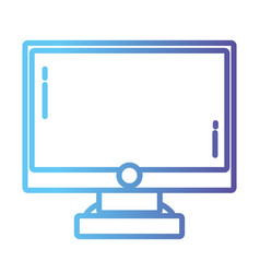 line computer screen electronic technology vector image vector image