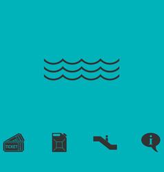 ocean or sea icon flat vector image vector image