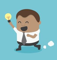 Young African businessman Run Show idea vector image vector image
