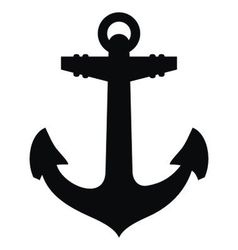 Anchor silhouette vector image