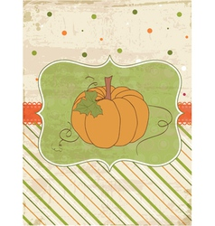 Autumn pumpkin card vector