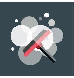cleaning window brush icon work equipment vector image