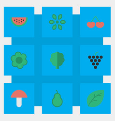 set of simple gardening icons vector image vector image