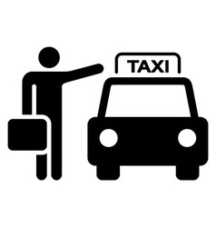 Taxi Sign Silhouette vector image vector image