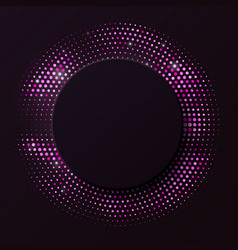 abstract black background with pink glitter vector image