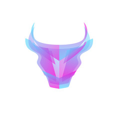 abstract bull head vector image