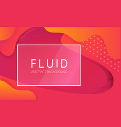 abstract fluid background with glass frame and vector image