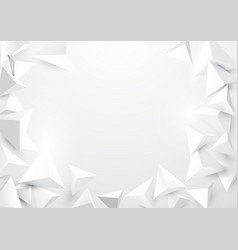 abstract triangles 3d polygonal background vector image