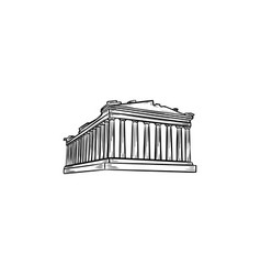 acropolis in athens hand drawn outline doodle icon vector image